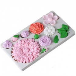 Mulaj de silicon flori