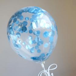 Mini Confetti Ballon Blue...