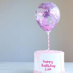 Mini Confetti Ballon Pink...
