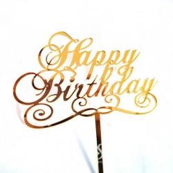 Topper Happy Birthday Auriu