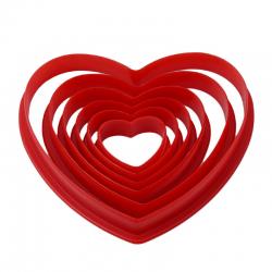 Set 6 decupatoare inimi