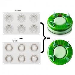 Forma de silicon rotunda cu...