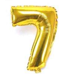 Balon cifra 7 auriu 101,6 cm
