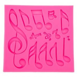Mulaj de silicon note muzicale