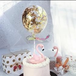 Balon cu confetii Aurii si...