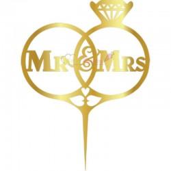 Topper Mr&Mrs pentru tort