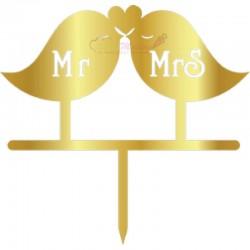 Topper Pasari Mr Mrs pentru...